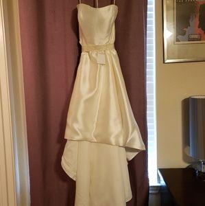 85758a249e4bb David's Bridal Dresses | Mikado Highlow Wedding Dress Db Studio ...
